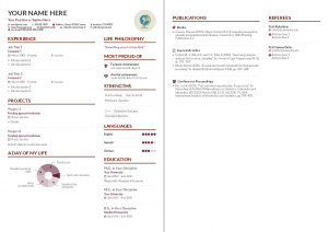 sample barebones altacv template - Marissa Mayer Resume