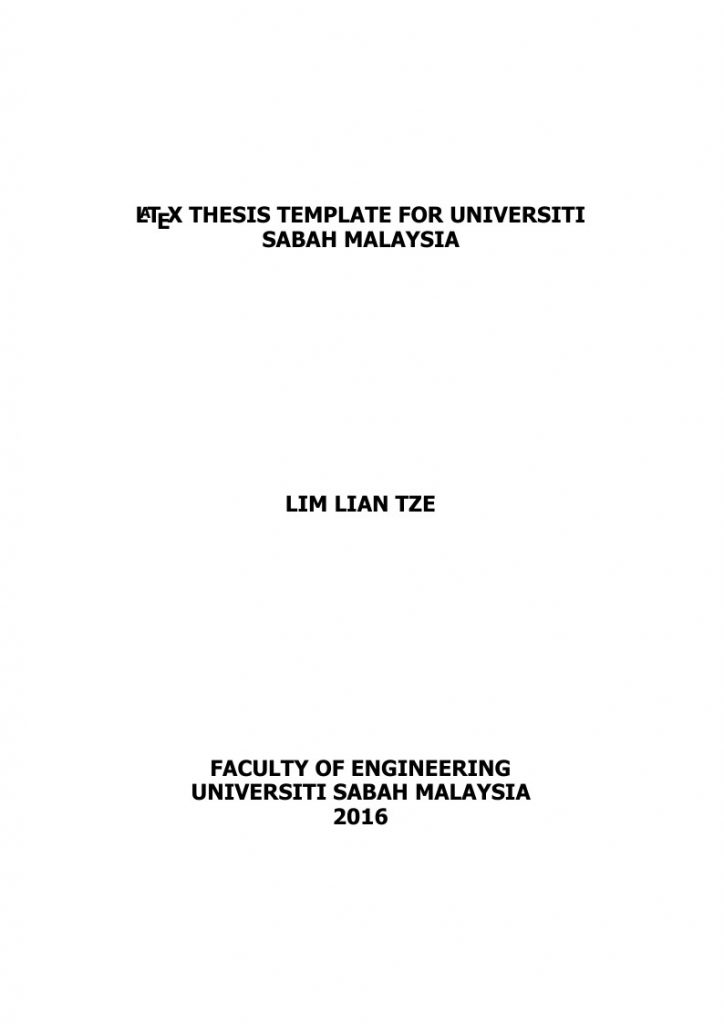 Latex master thesis package